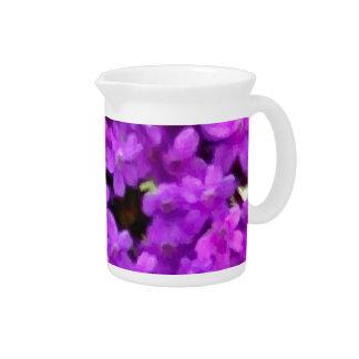 Flores púrpuras de los Wildflowers expresivos flor Jarra De Beber
