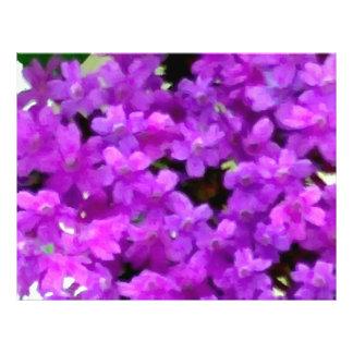 Flores púrpuras de los Wildflowers expresivos Tarjeton