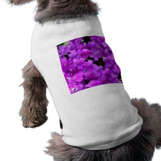 Flores púrpuras de los Wildflowers expresivos Playera Sin Mangas Para Perro