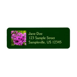 Flores púrpuras de San Francisco Etiqueta De Remitente