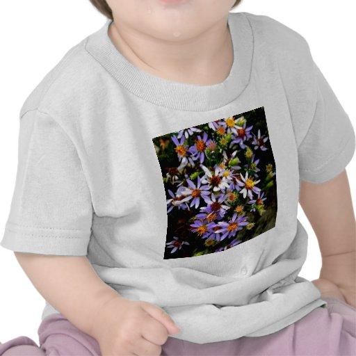 flores púrpuras del arte de las imágenes de los wi camiseta