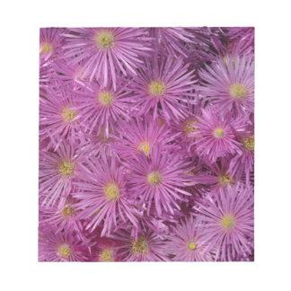 Flores púrpuras del aster bloc de notas