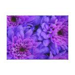 Flores púrpuras del crisantemo impresiones en lona