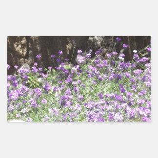 Flores púrpuras del desierto pegatinas
