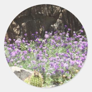 Flores púrpuras del desierto etiquetas