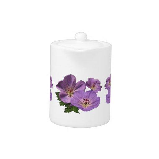 Flores púrpuras del geranio