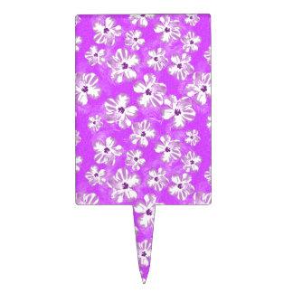 Flores púrpuras del hibisco figura para tarta