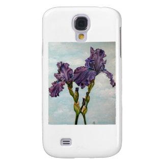 Flores púrpuras del iris barbudo funda samsung s4
