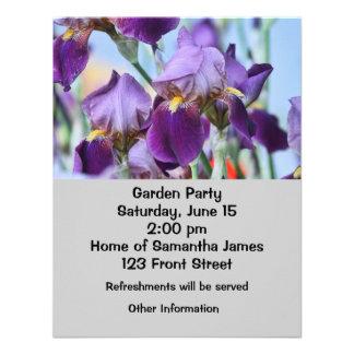 Flores púrpuras del iris