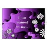 Flores púrpuras del jardín del Grunge Felicitacion