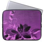 Flores púrpuras del jardín manga computadora