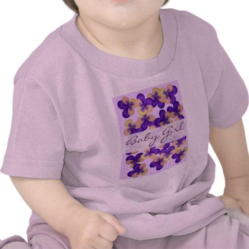 Flores púrpuras delicadas camisetas