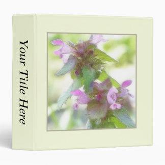 """Flores púrpuras delicadas de Deadnettle Carpeta 1 1/2"""""""