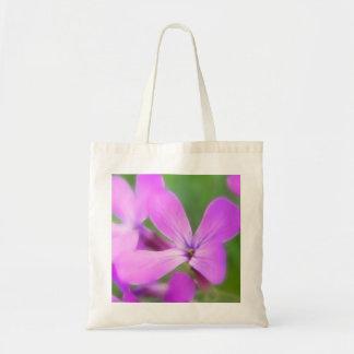 Flores púrpuras delicadas del Lunaria Bolsa Tela Barata