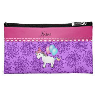 Flores púrpuras en colores pastel del unicornio