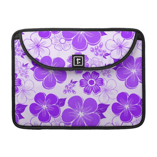 Flores púrpuras femeninas abstractas fundas para macbooks