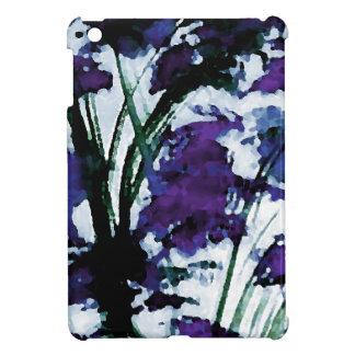 Flores púrpuras florales modernas en las brisas de