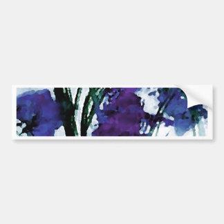 Flores púrpuras florales modernas en las brisas pegatina para auto