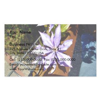Flores púrpuras florecientes tarjetas de visita