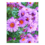 Flores púrpuras flyer personalizado