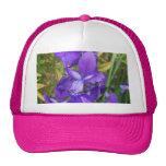 Flores púrpuras gorro