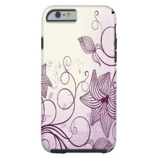 Flores púrpuras hermosas funda de iPhone 6 tough