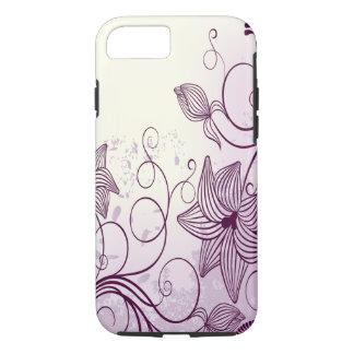 Flores púrpuras hermosas funda iPhone 7