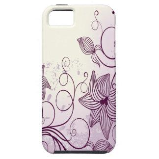 Flores púrpuras hermosas iPhone 5 carcasa