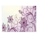 Flores púrpuras hermosas postales