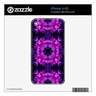 Flores púrpuras inconsútiles iPhone 4S calcomanías