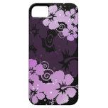 Flores púrpuras iPhone 5 cárcasa