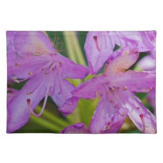 Flores púrpuras mantel