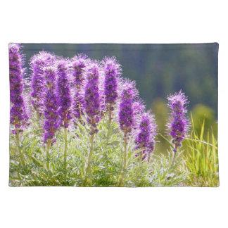 Flores púrpuras mantel individual