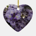 Flores púrpuras ornaments para arbol de navidad