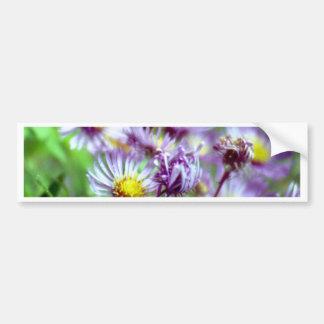 Flores púrpuras pegatina de parachoque
