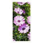 Flores púrpuras pintadas diseños de tarjetas publicitarias