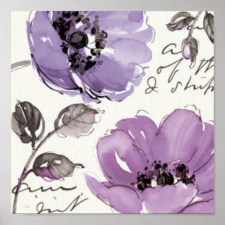 Flores púrpuras póster