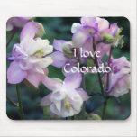 Flores púrpuras rosadas de Columbine Alfombrilla De Ratón