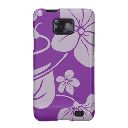 Flores púrpuras samsung galaxy SII funda