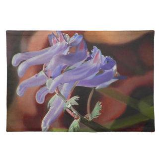 Flores púrpuras sin título manteles