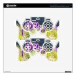 Flores púrpuras skins para mandos PS3