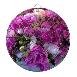 Flores púrpuras tablero dardos