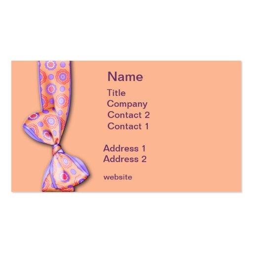 Flores púrpuras tarjetas personales