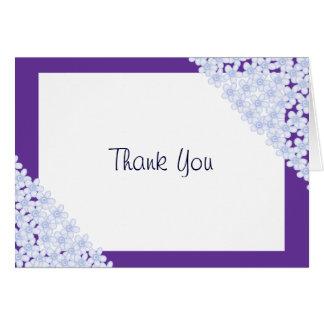Flores púrpuras tarjeta pequeña