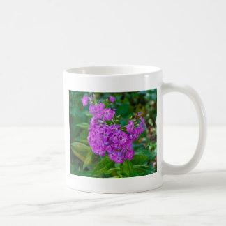 flores púrpuras taza