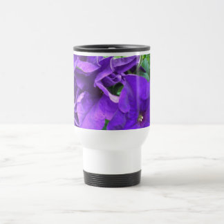 Flores púrpuras taza térmica