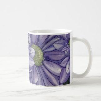 Flores púrpuras tazas