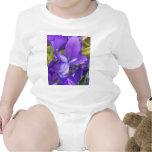 Flores púrpuras traje de bebé