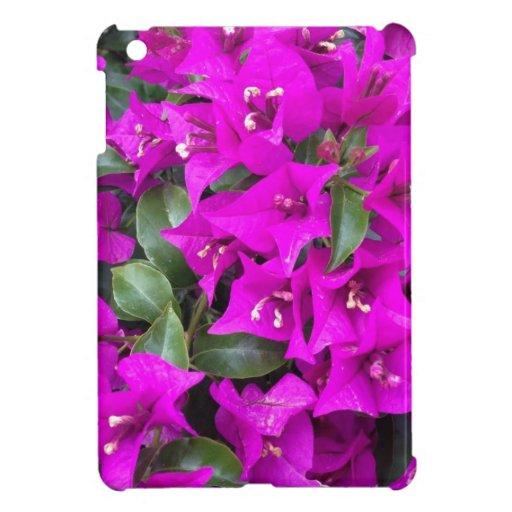 Flores púrpuras vibrantes del Bougainvillea iPad Mini Fundas