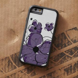 Flores púrpuras y blancas femeninas modernas funda para  iPhone 6 tough xtreme